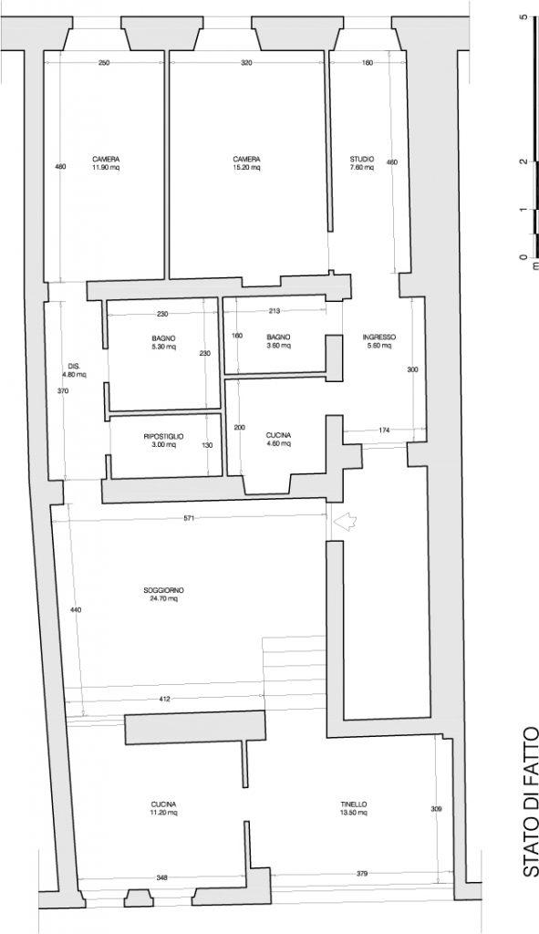 ristrutturazione appartamento via bixio - stato di fatto