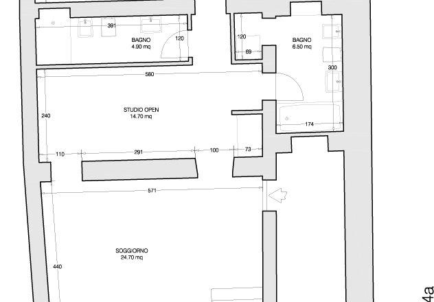 Ristrutturazione appartamento via bixio - ipotesi di progetto