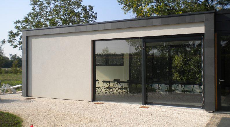 Casa in bioedilizia - dettaglio su veranda