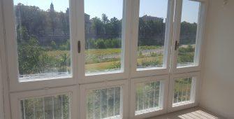 ristrutturazione via bixio - dettaglio su finestra sul fiume