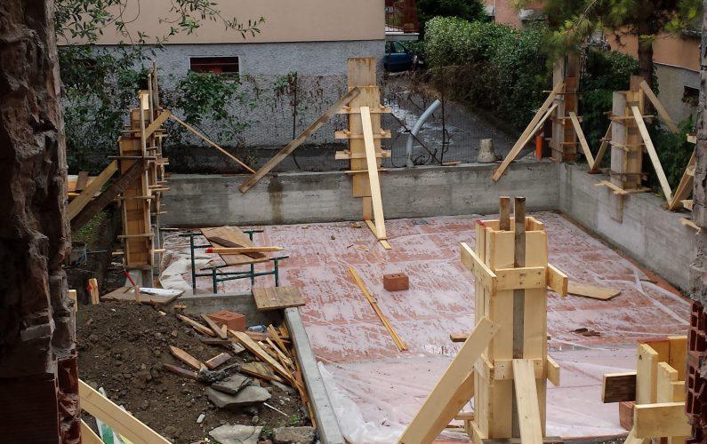 Ristrutturazione edilizia - fase iniziale dei lavori