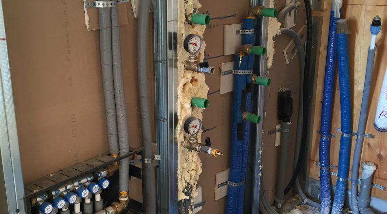 Casa in bioedilizia a Vigheffio - impianto termico - foto 1