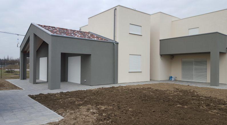 Casa in legno - realizzazione a Parma - vista da esterno
