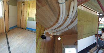 fasi di lavoro su pavimenti e pareti casa in bioedilizia