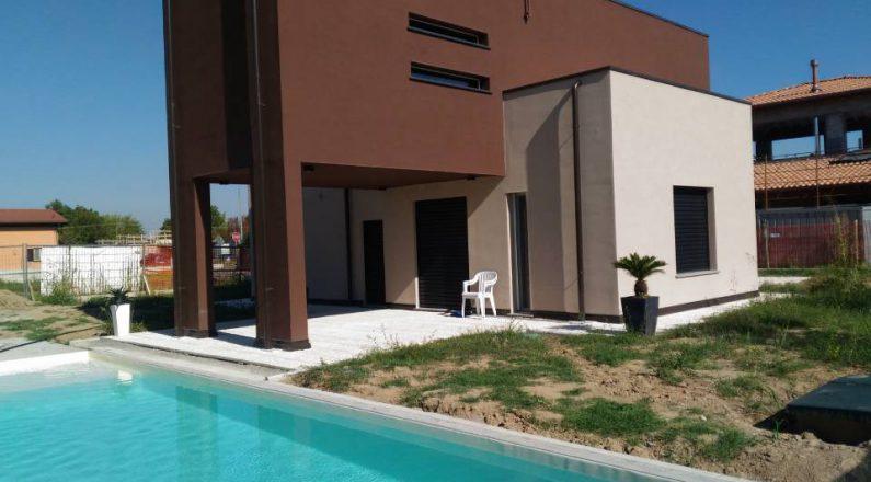 villa in bioedilizia con piscina